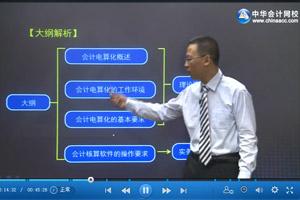 会计证初级会计电算化视频