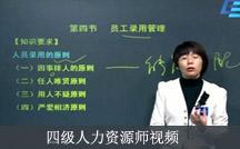 四级人力资源师视频