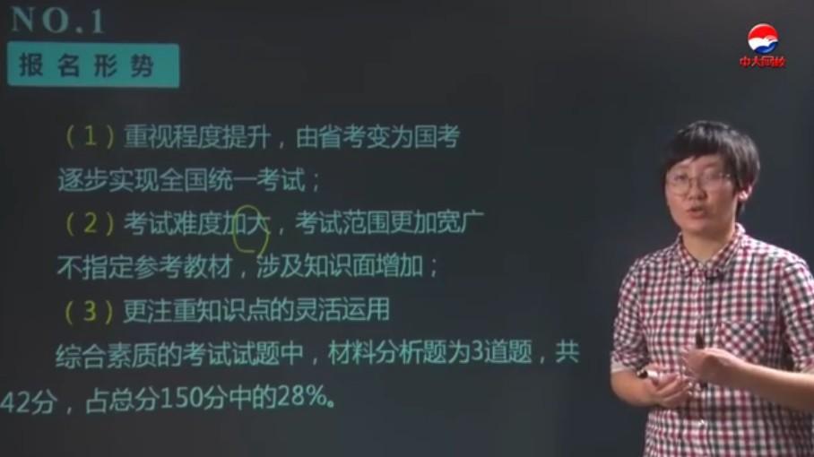 中大网校教师资格证视频