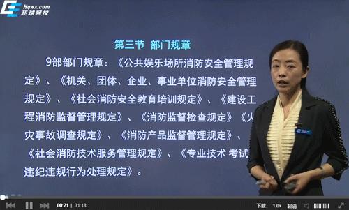 一级消防安全技术综合能力李石磊老师