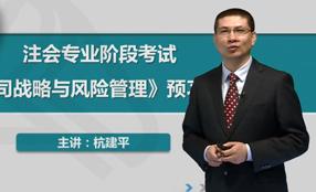 杭建平公司战略与风险管理试听