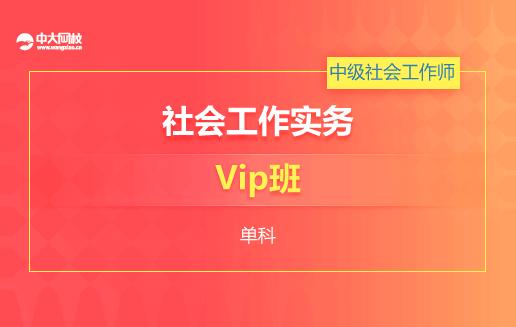 [Vip班](中级)社会工作实务(单科)