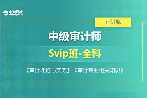 中级审计师培训SVIP班