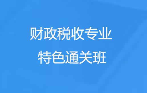 中级经济师财政税收专业培训特色通关班
