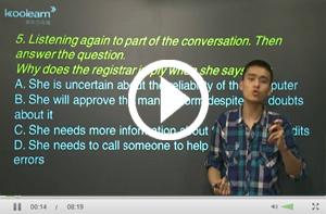 托福听力Conversation Level2讲解