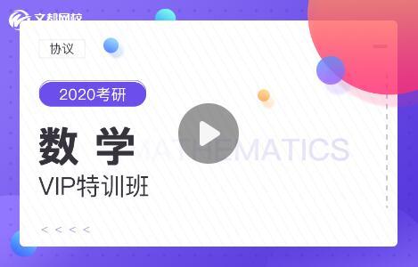 【协议】2020考研VIP特训班【数学】