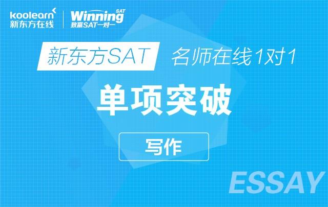 新东方SAT名师在线一对一单项突破(写作)