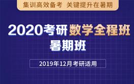 2020考研数学全程班 暑期班