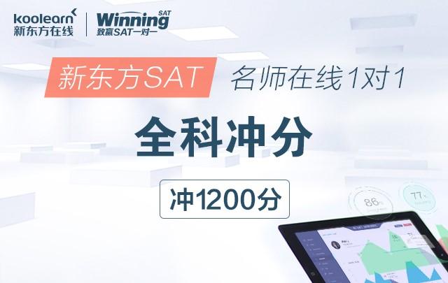 新东方SAT名师在线一对一全科冲分(冲1200分)