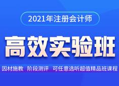 2021注册会计师高效实验班