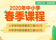 2020年初中春季直播课